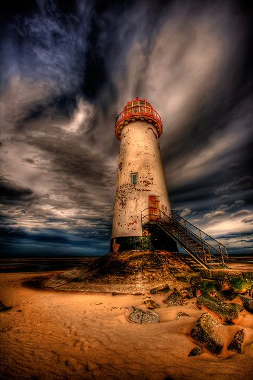 abandoned lighthouse